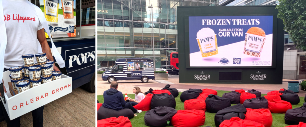 Orlebar Brown Pops Outdoor Screening Canary Wharf